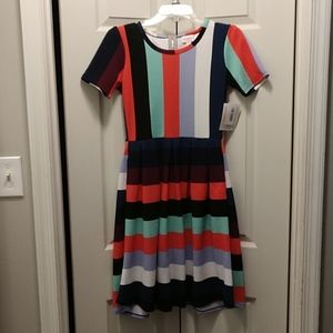 Brand new XS Multicolored Lularoe Amelia dress
